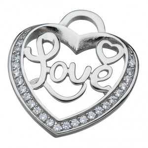 """Anhänger - """"Love"""" im Herz aus Steinen"""